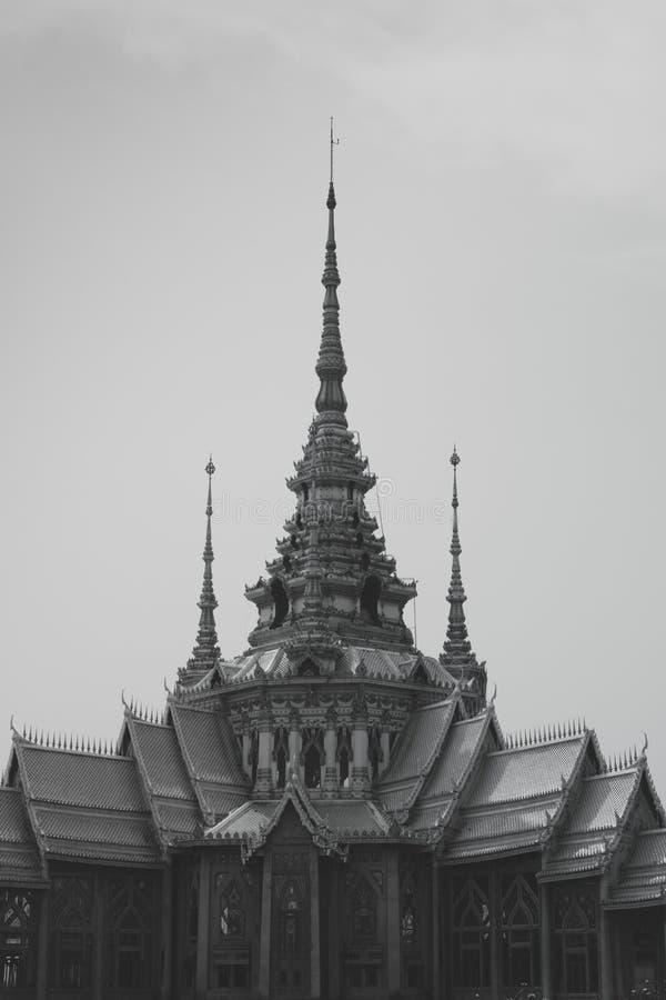 Wat无黑白的Kum 图库摄影