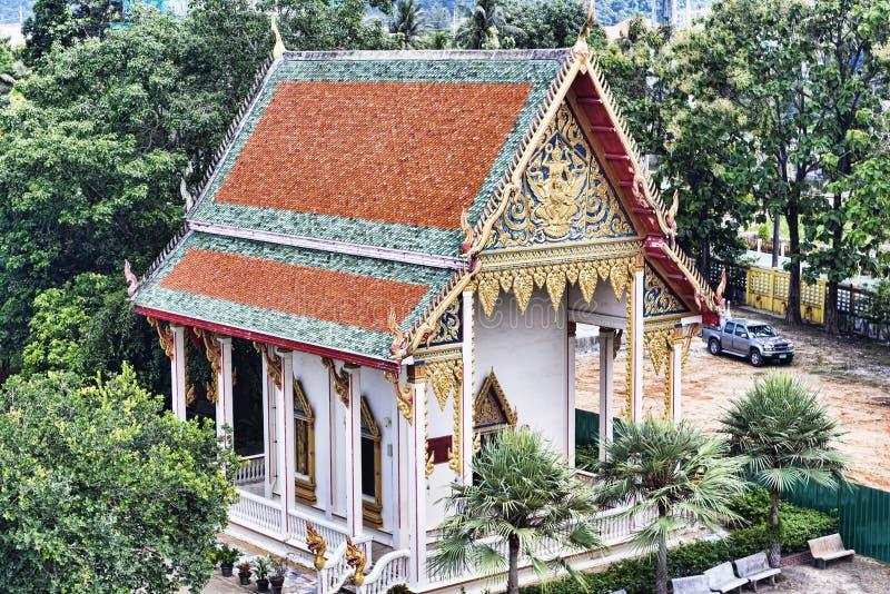 Wat查龙寺庙复合体在普吉岛区,泰国 免版税图库摄影