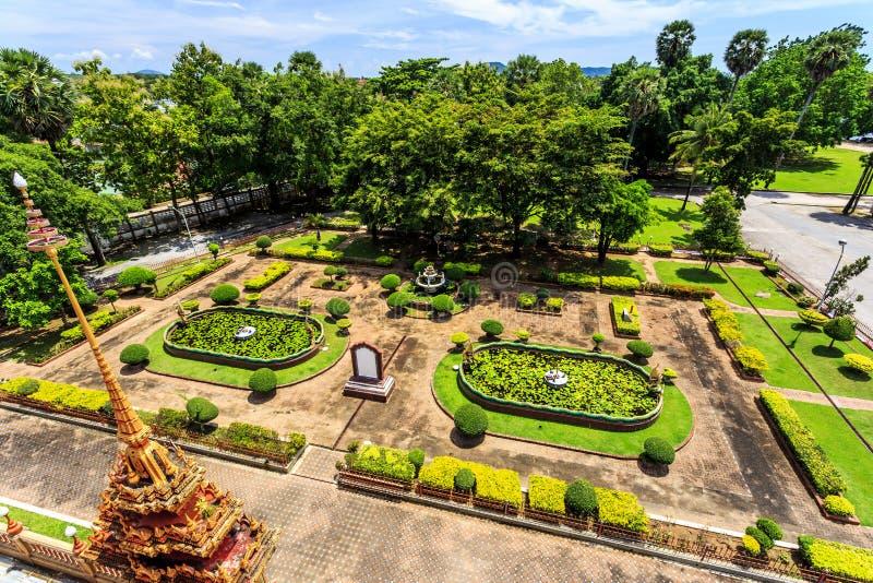 Wat查龙是普吉岛最重要的寺庙  库存照片