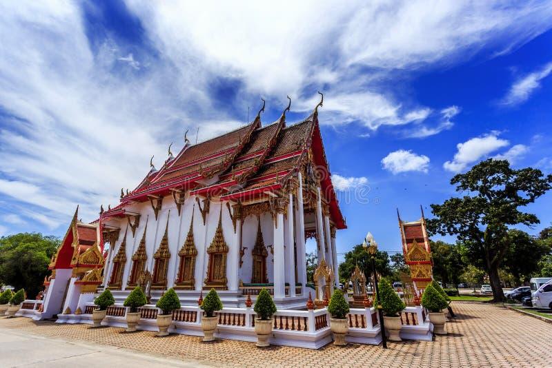 Wat查龙是普吉岛最重要的寺庙  免版税库存图片