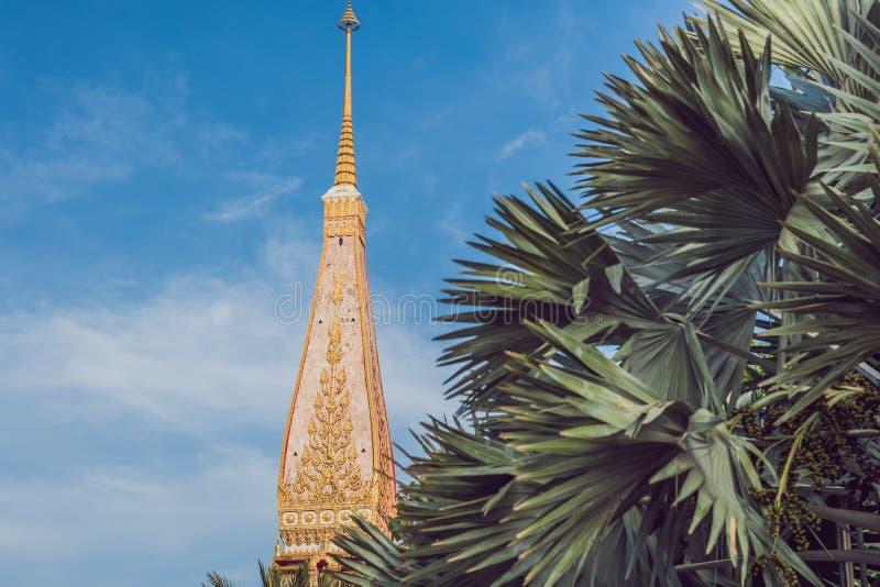 Wat查龙是普吉岛最重要的寺庙  库存图片