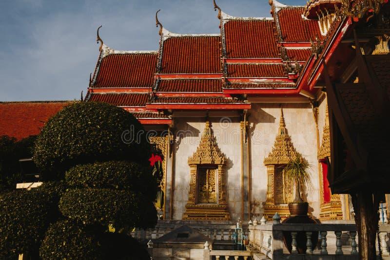 Wat查龙是普吉岛主要寺庙  库存图片
