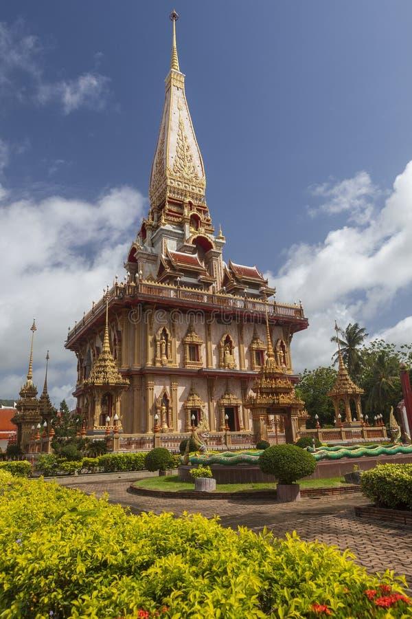 Wat查龙普吉岛,泰国 库存图片