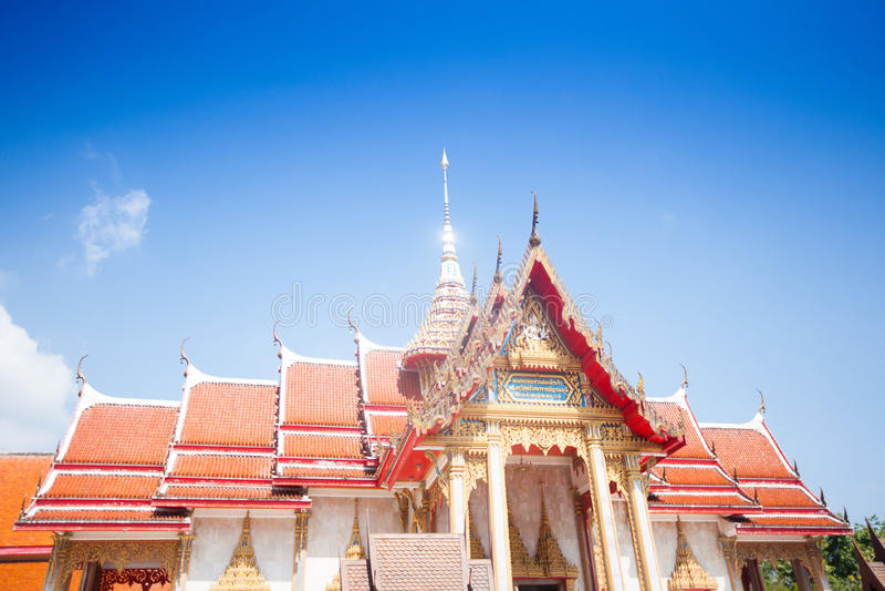 Wat查龙,最重要的寺庙在普吉岛 库存照片