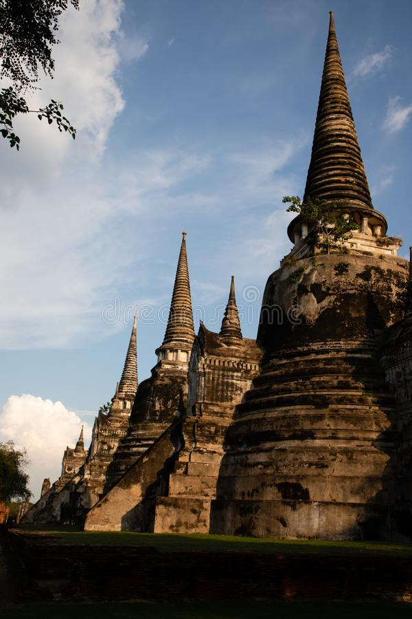 Wat柴Wattanaram废墟在泰国 免版税库存图片