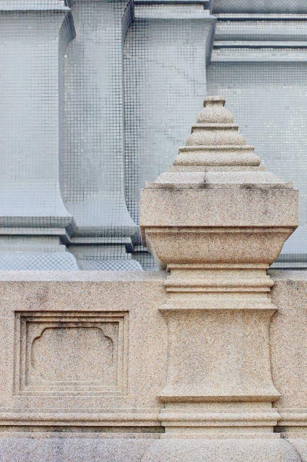 Wat的(寺庙)楼梯栏杆细节在泰国 图库摄影