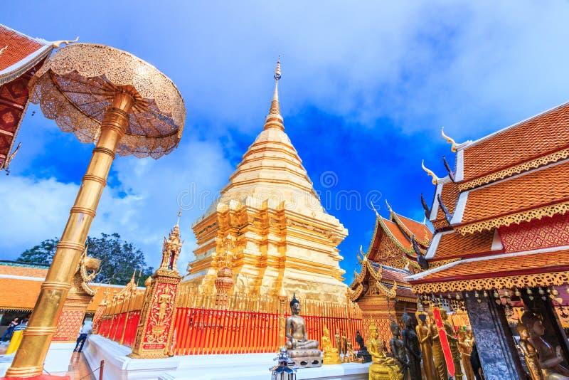 Wat的Phra金黄塔土井素贴,泰国 免版税库存照片