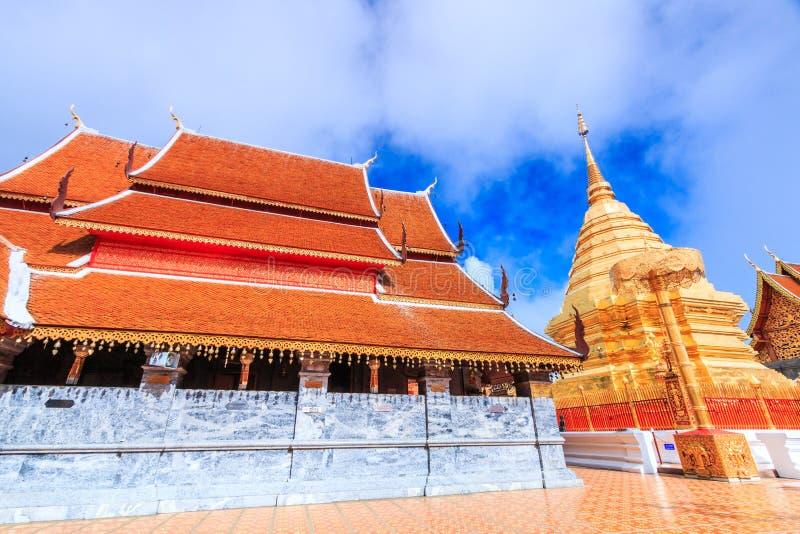 Wat的Phra金黄塔土井素贴,泰国 图库摄影