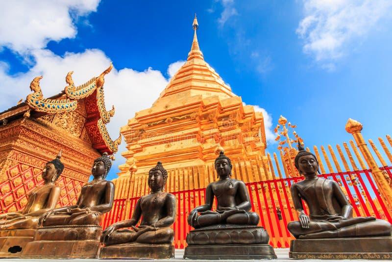 Wat的Phra金黄塔土井素贴,泰国 免版税库存图片