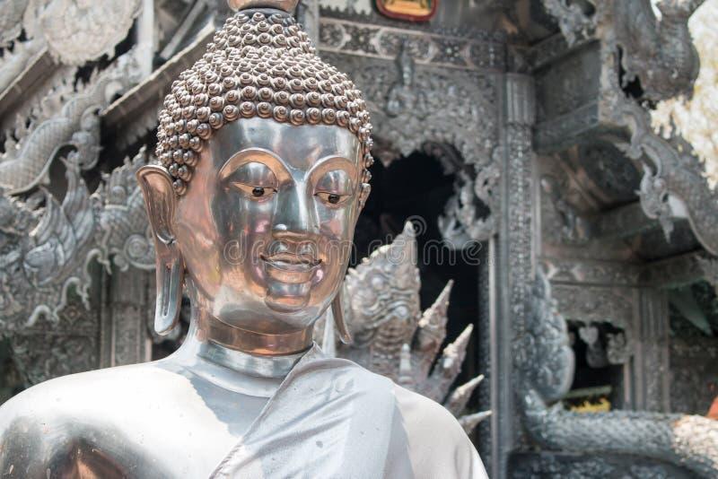 Wat的Si位于Wua的素攀武里神奇的银色菩萨赖 免版税图库摄影