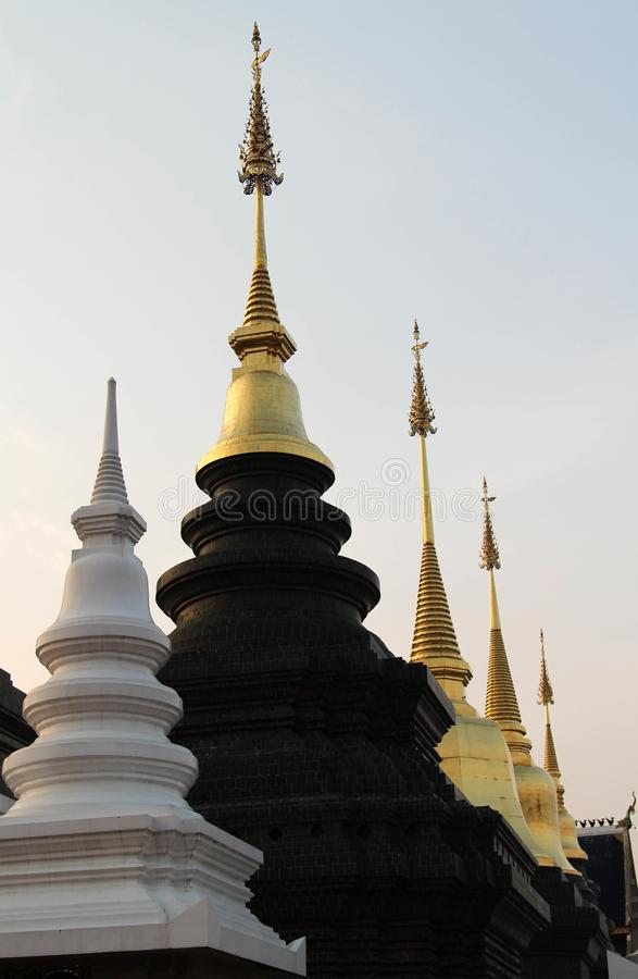 Wat禁令小室美丽和著名泰国寺庙, Chiangmai,北泰国 免版税库存照片