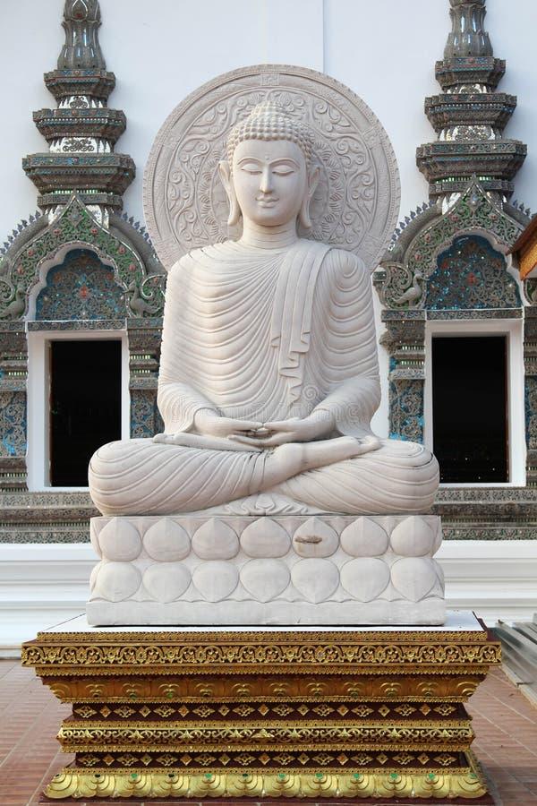 Wat禁令小室美丽和著名泰国寺庙, Chiangmai,北泰国 图库摄影