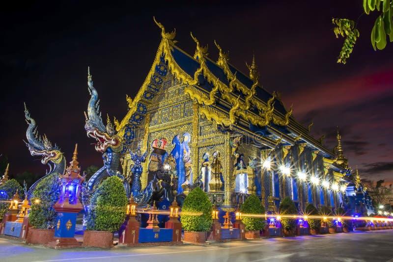 Wat荣Suea十,清莱,泰国 库存照片