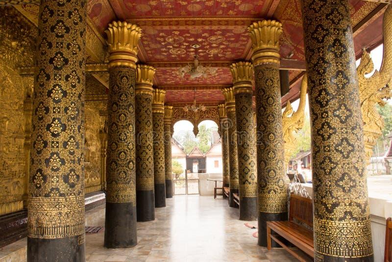 Wat邮件在琅勃拉邦 免版税库存照片