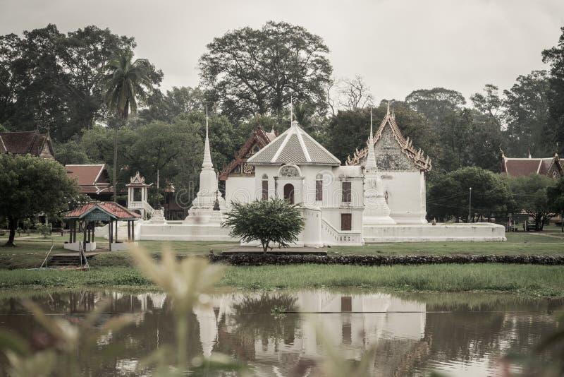 Wat马胃蝇蛆manorom, Uthaithani 库存照片