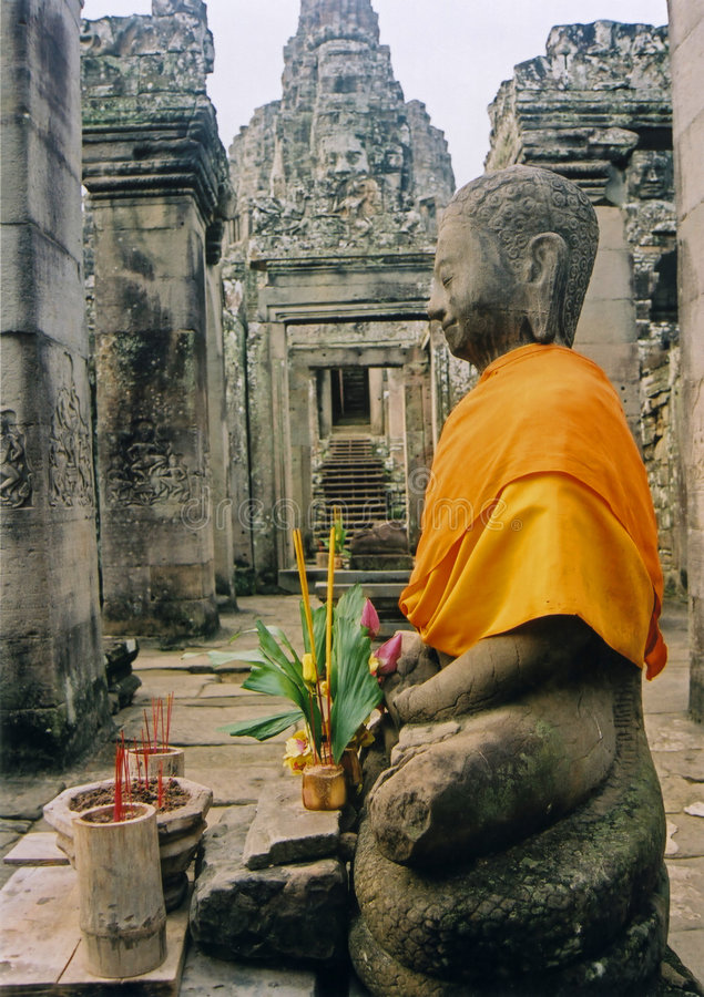 wat виска Будды Камбоджи angkor стоковые фотографии rf