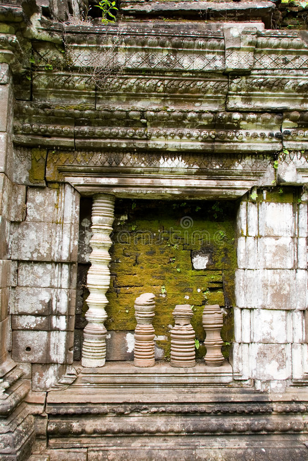 wat виска руин phu Лаоса champasak стоковое изображение rf