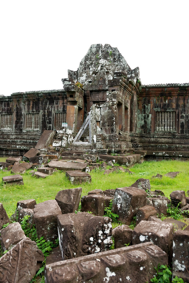 wat виска руин phu Лаоса champasak стоковое фото rf