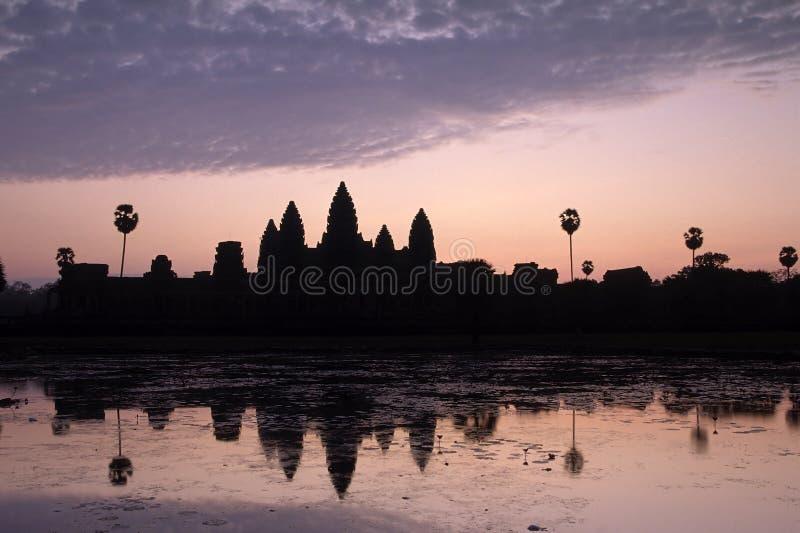 wat восхода солнца Камбоджи angkor стоковая фотография rf