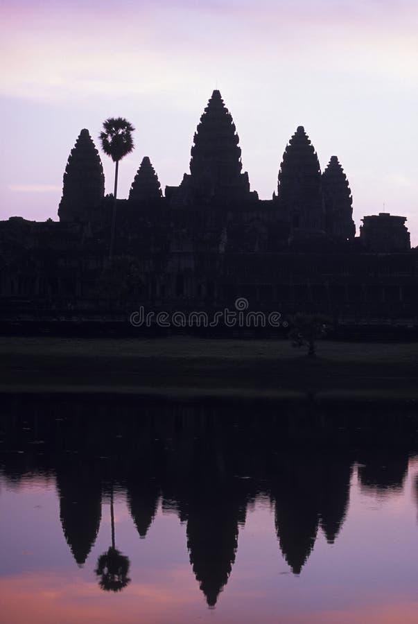 wat восхода солнца Камбоджи ankgor стоковая фотография