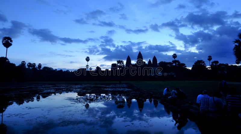 wat восхода солнца angkor стоковые изображения rf