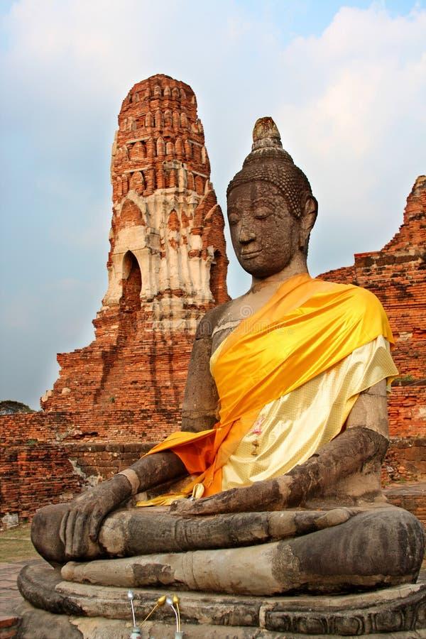 wat Таиланда mahathat ayutthaya стоковое изображение rf