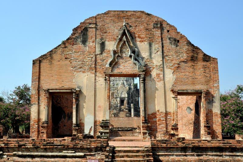 wat Таиланда ratchaburana ayutthaya стоковое изображение
