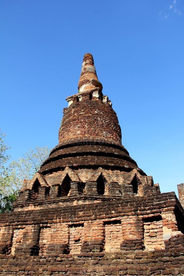 Wat alter Tempel des blauen Himmels in kamphaeng phet stockbilder