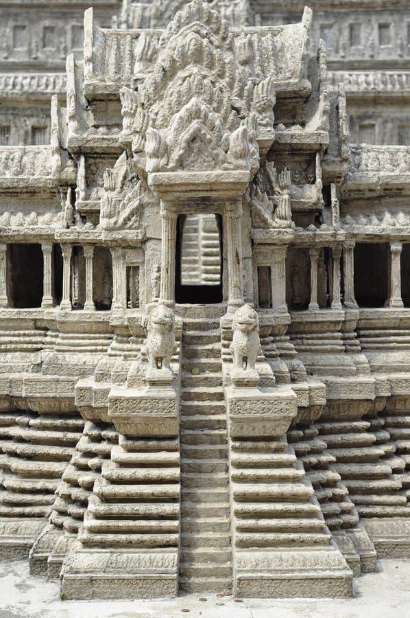 Wat Angkor Thom en el templo Wat Pra Kaew fotos de archivo