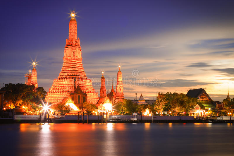 Wat Arun Bangkok Thailand fotografia de stock royalty free