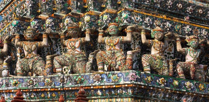 Wat Arun Bas-Relief Stock Photos