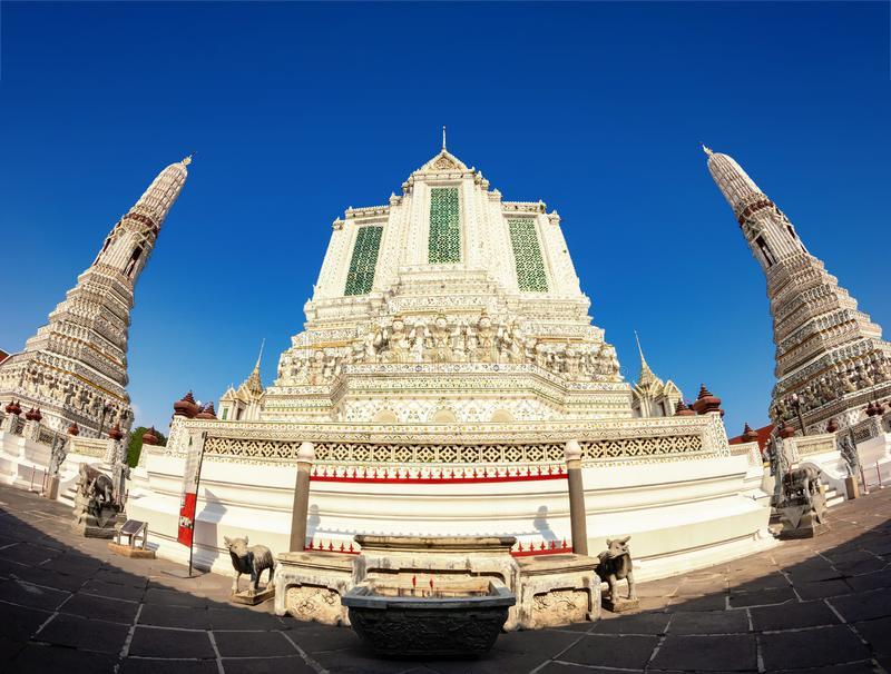 Wat Arun is a Buddhist temple in Bangkok, Thailand stock photos