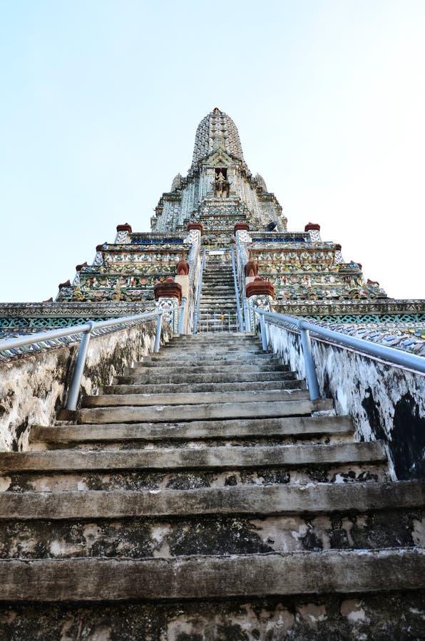Wat Arun de Tempel van Dawn stock foto