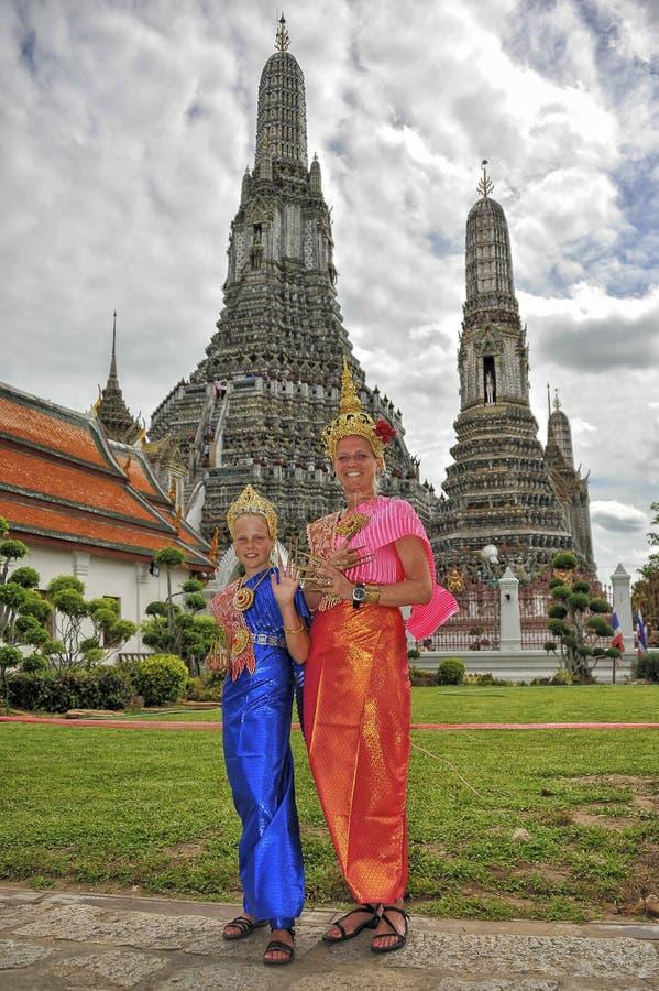 Wat Arun i Bangkok arkivfoton