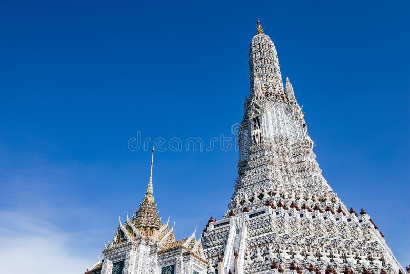 Wat Arun o il tempio dell'alba, Bangkok, Tailandia fotografie stock libere da diritti