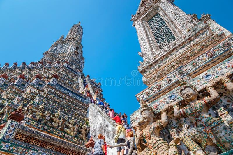 Wat Arun - o Temple of Dawn em Banguecoque fotos de stock royalty free