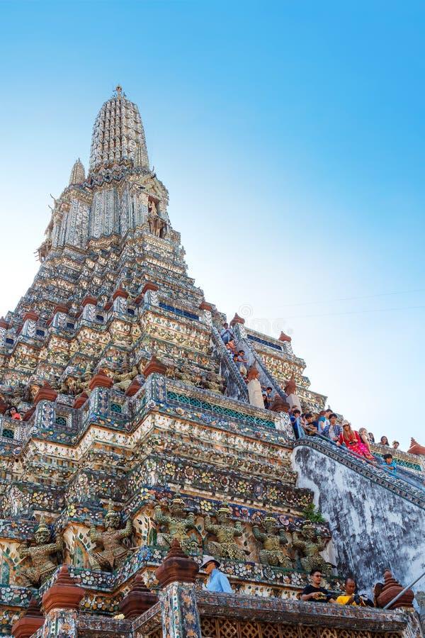 Wat Arun - o Temple of Dawn em Banguecoque, Tailândia imagem de stock royalty free