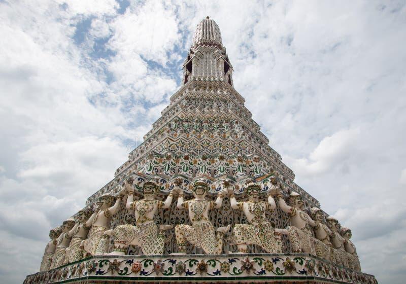 Wat Arun Ratchawararam Ratchawaramahawihan lub Wat Arun buddyjski zdjęcie royalty free