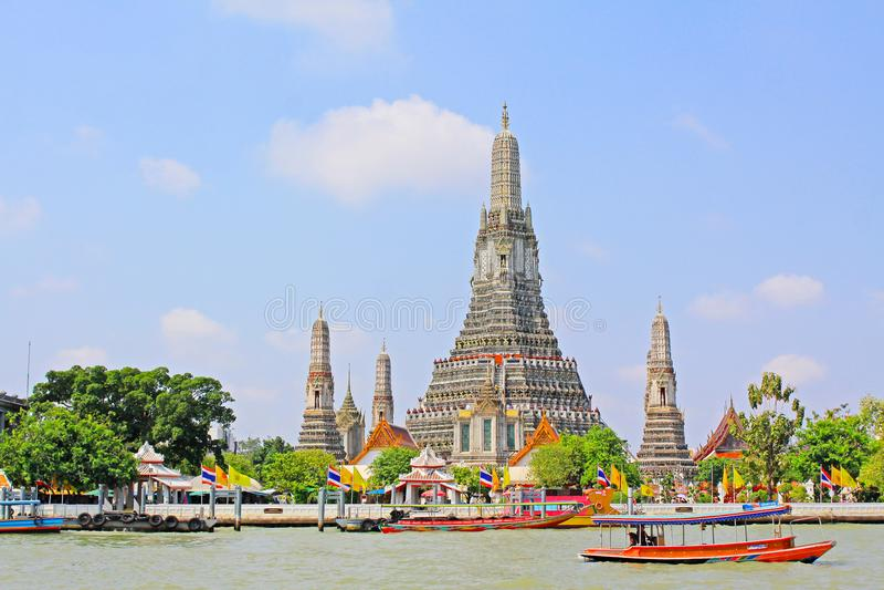 Wat Arun Riverside, Banguecoque, Tailândia imagens de stock