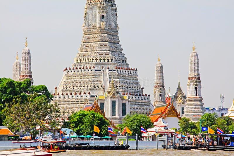 Wat Arun Riverside, Banguecoque, Tailândia imagem de stock