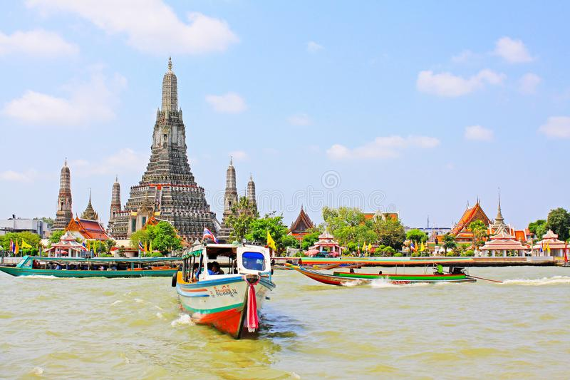 Wat Arun Riverside, Banguecoque, Tailândia imagem de stock royalty free