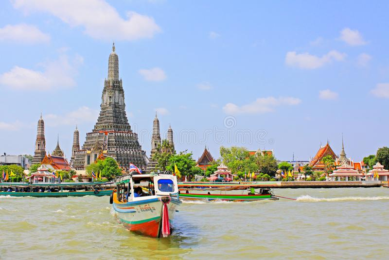 Wat Arun Riverside, Banguecoque, Tailândia foto de stock royalty free