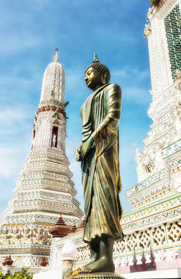 Wat Arun-Tempel der Dämmerung stockfotografie