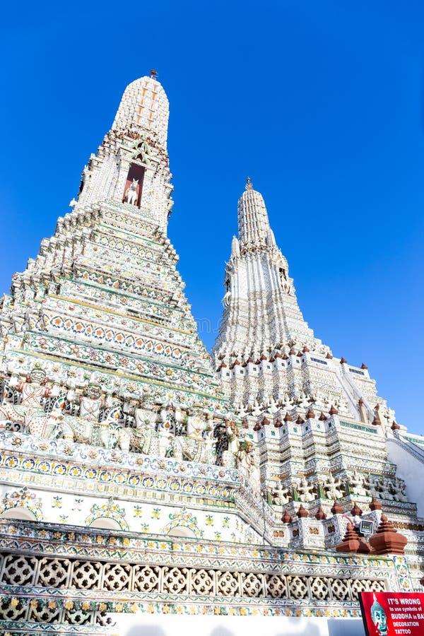 Wat Arun tempel i Bangkok, Thailand royaltyfri foto