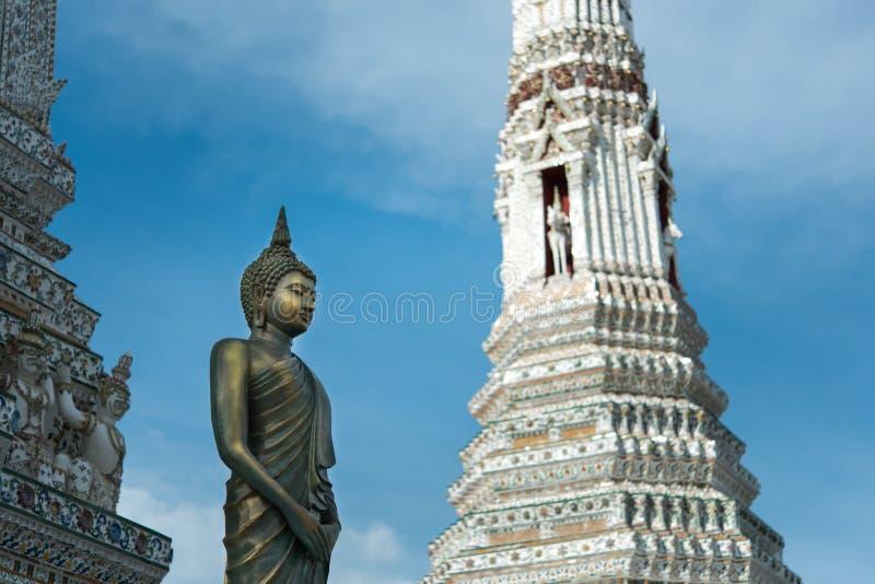 Wat Arun, Tempel van Dawn het oriëntatiepunt van Bangkok, Thailand royalty-vrije stock foto