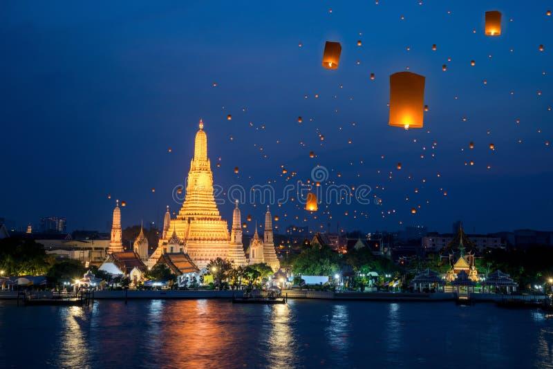 Wat Arun Temple lizenzfreie stockfotos