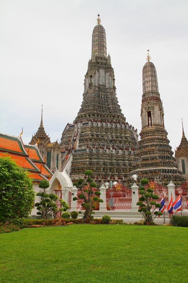 Wat Arun temple - Bangkok - Thailand. Photo showing the famous Wat Arun temple in Bangkok - Thailand royalty free stock photography