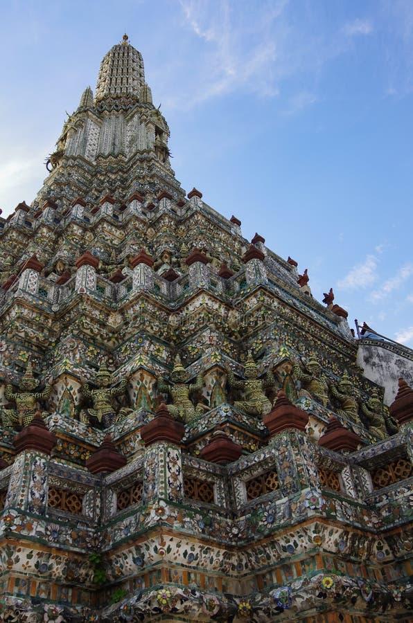 Wat Arun temple details, Bangkok, Thailand.  royalty free stock photos