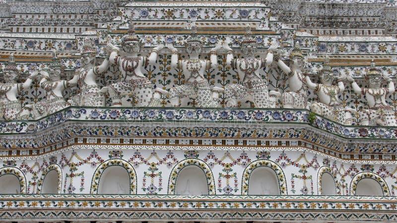Wat Arun Temple With Thai Architecture imagem de stock royalty free