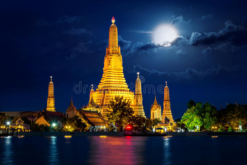 Wat Arun temple in Thailand. royalty free stock photos